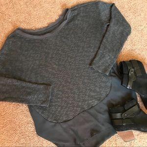 Swing high low Gray Sweater
